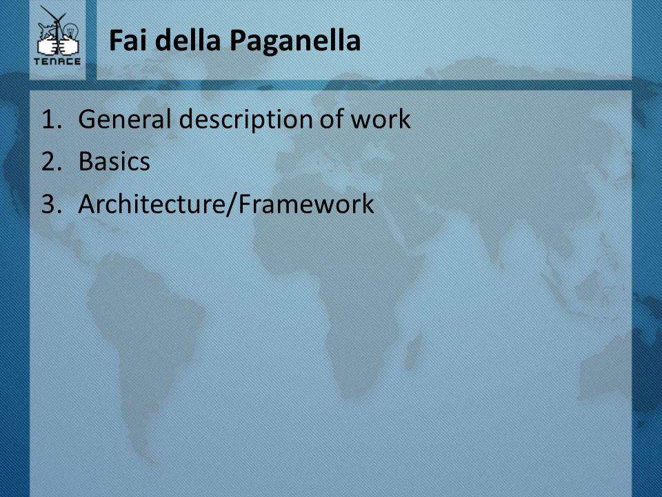 Fai della Paganella 1.General description of work 2.Basics 3.Architecture/Framework