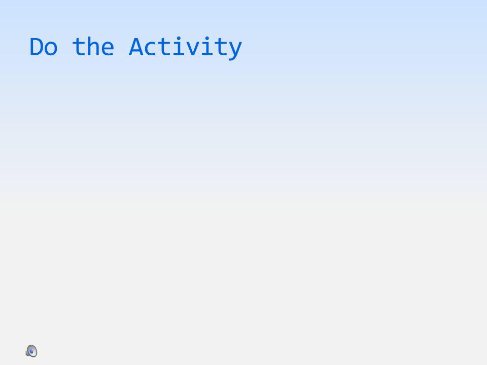 Do the Activity