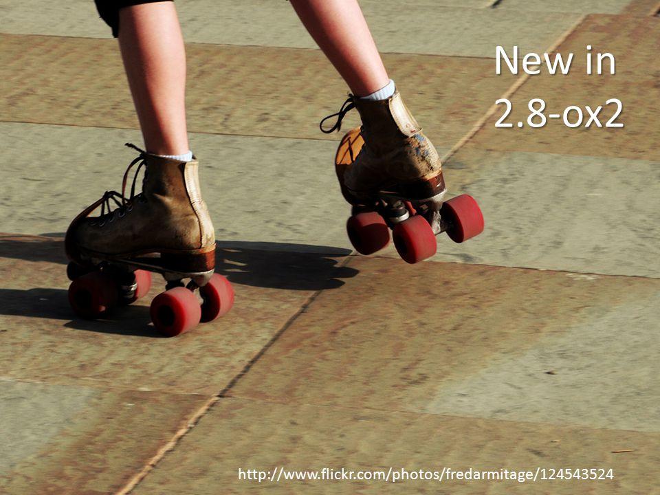 http://www.flickr.com/photos/fredarmitage/124543524 New in 2.8-ox2