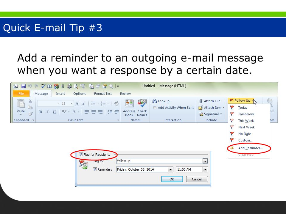 Quick E-mail Tip #4 Forward multiple messages as one item.