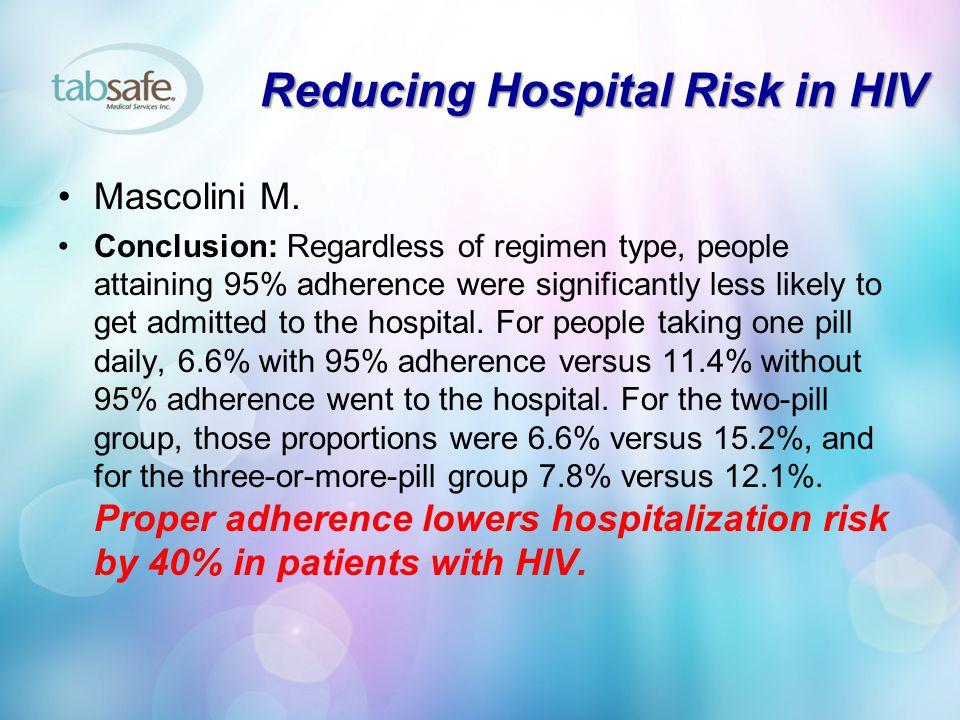 Reducing Hospital Risk in HIV Mascolini M.
