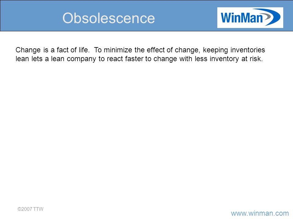 www.winman.com ©2007 TTW Obsolescence Change is a fact of life.