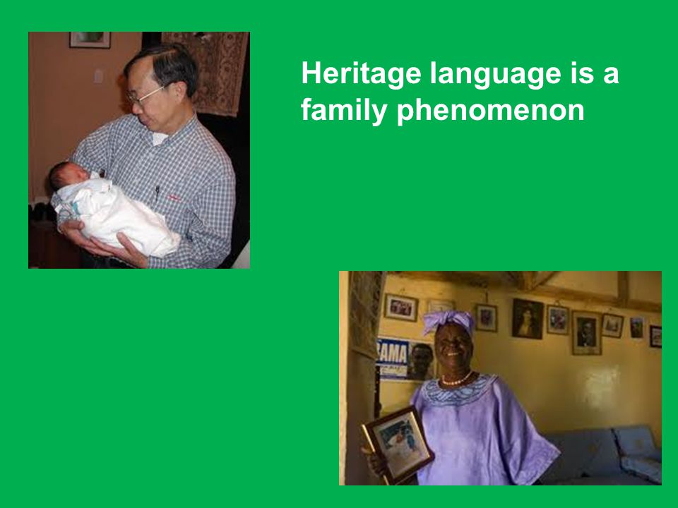 Heritage language is a family phenomenon