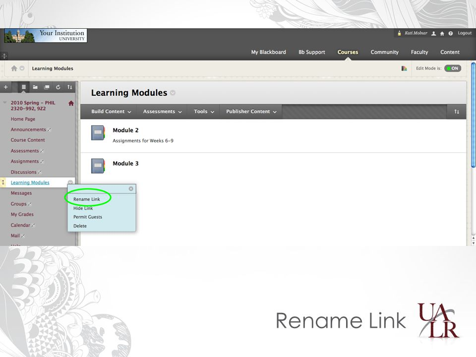 Rename Link