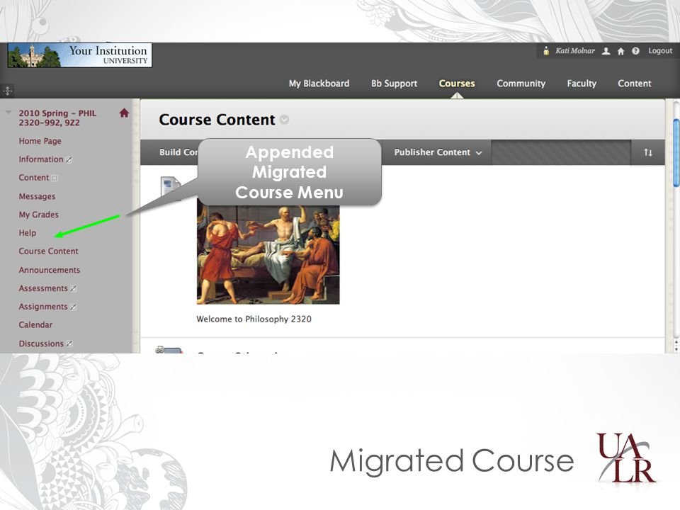 Migrated Course Appended Migrated Course Menu Appended Migrated Course Menu