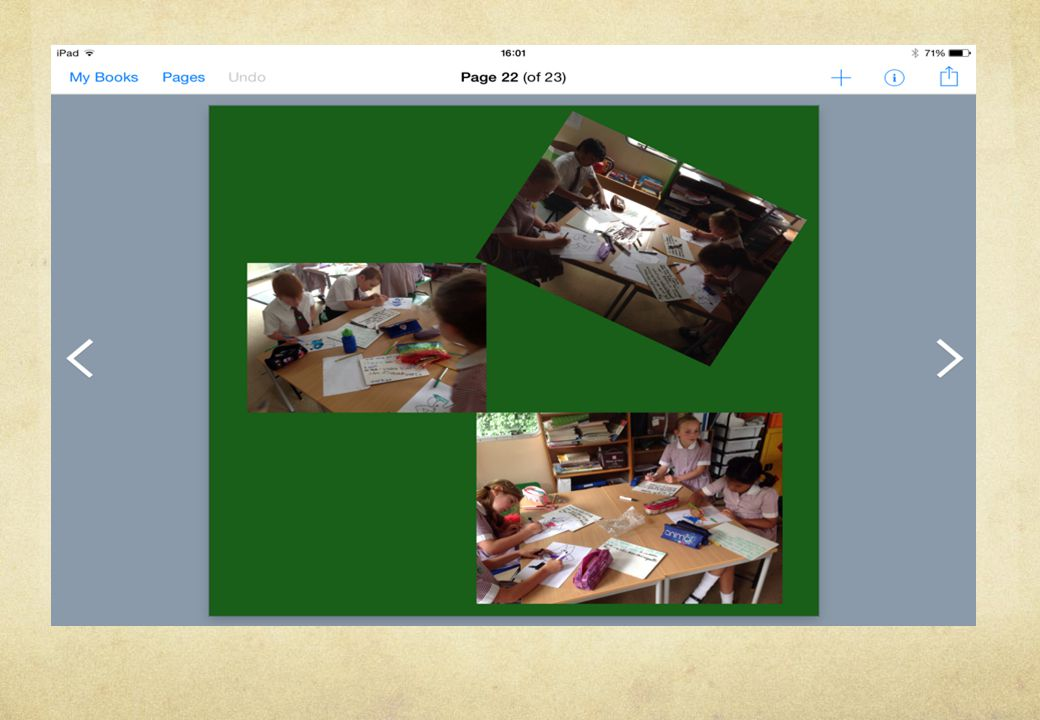Book creator Interactive book.You can use not only text and images, but video and audio.
