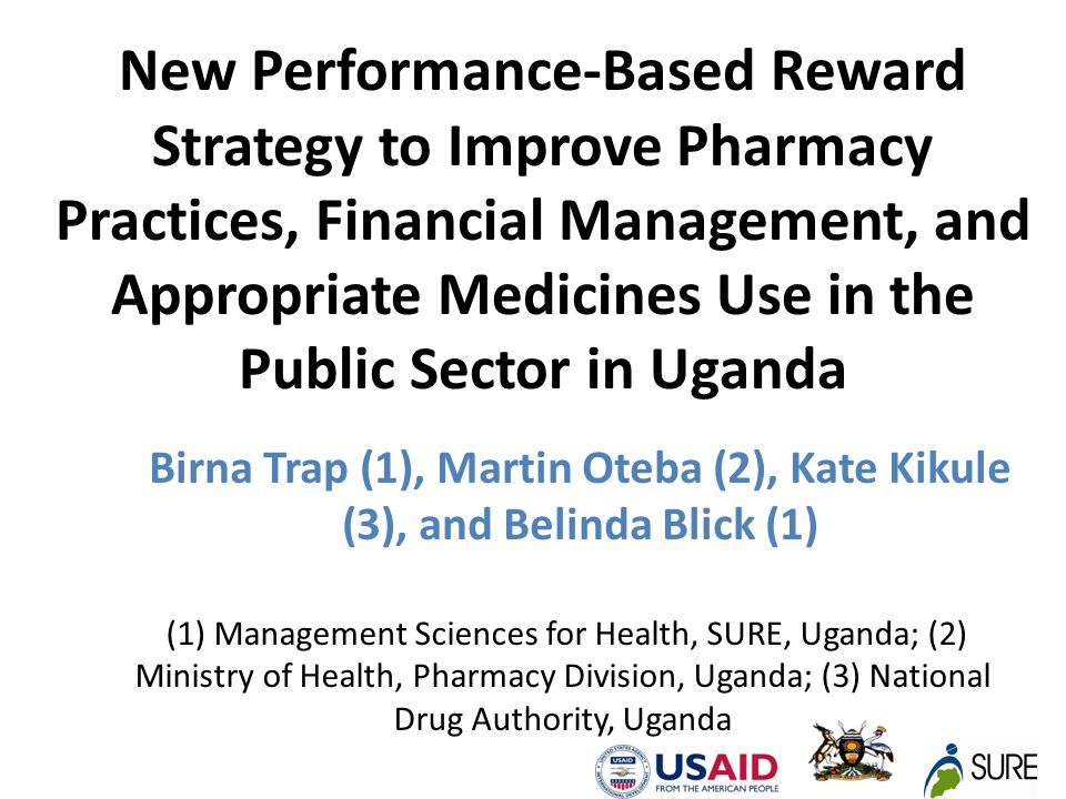 BACKGROUND To strengthen Medicines Management SPARS was introduced SRARS combines all four intervention strategies: Supervision or On the job training District and HSD staff are trained as Medicines Management Supervisors (MMS) in a 2 weeks examinable course followed by practical field training enabling them to do on-the-job (OTJ) training.