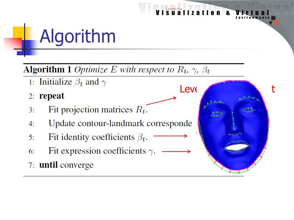 Algorithm 11 Levenberg-Marquardt (Siggraph98)