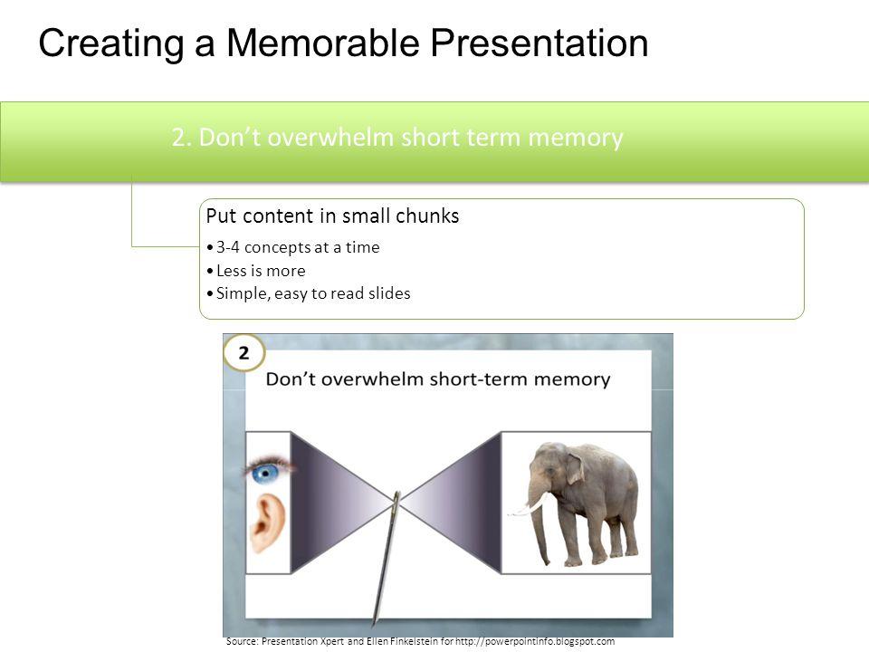 Creating a Memorable Presentation 1.