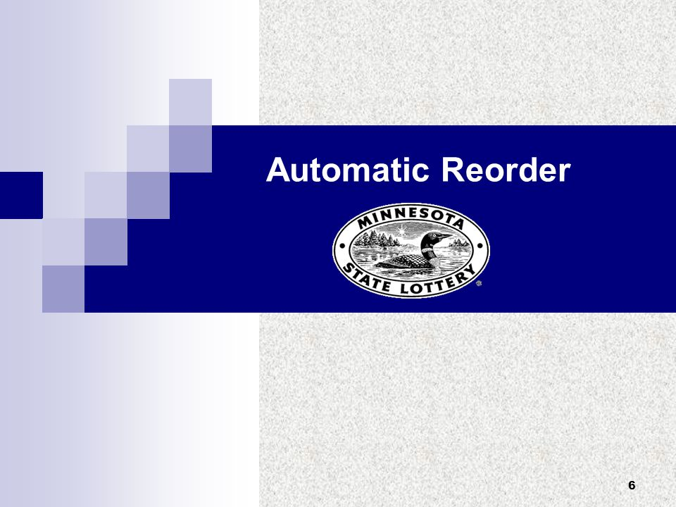 6 Automatic Reorder