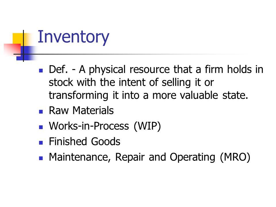 Inventory Def.