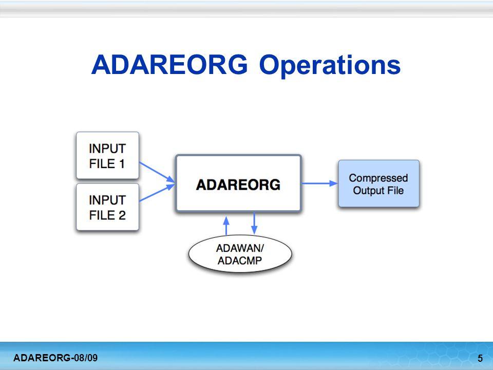 5 ADAREORG-08/09 ADAREORG Operations