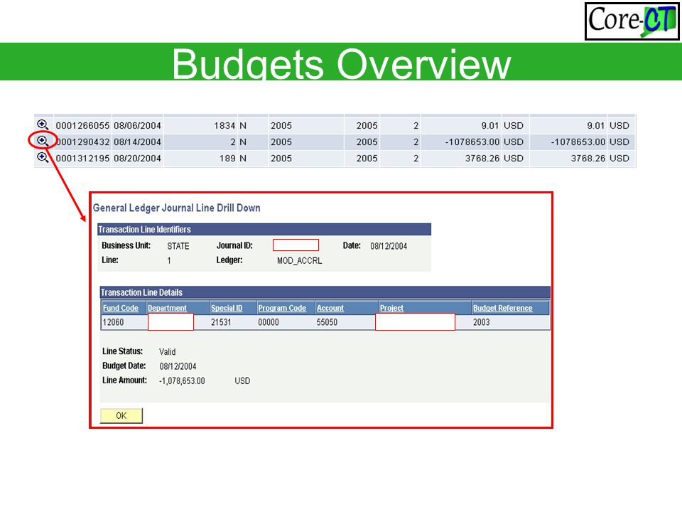 Budgets Overview