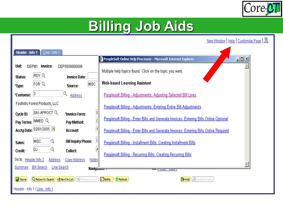 Billing Job Aids