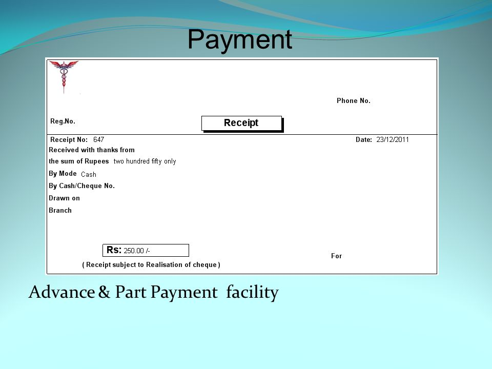 Patient Counter Bill Available in A4 & A5 Size.