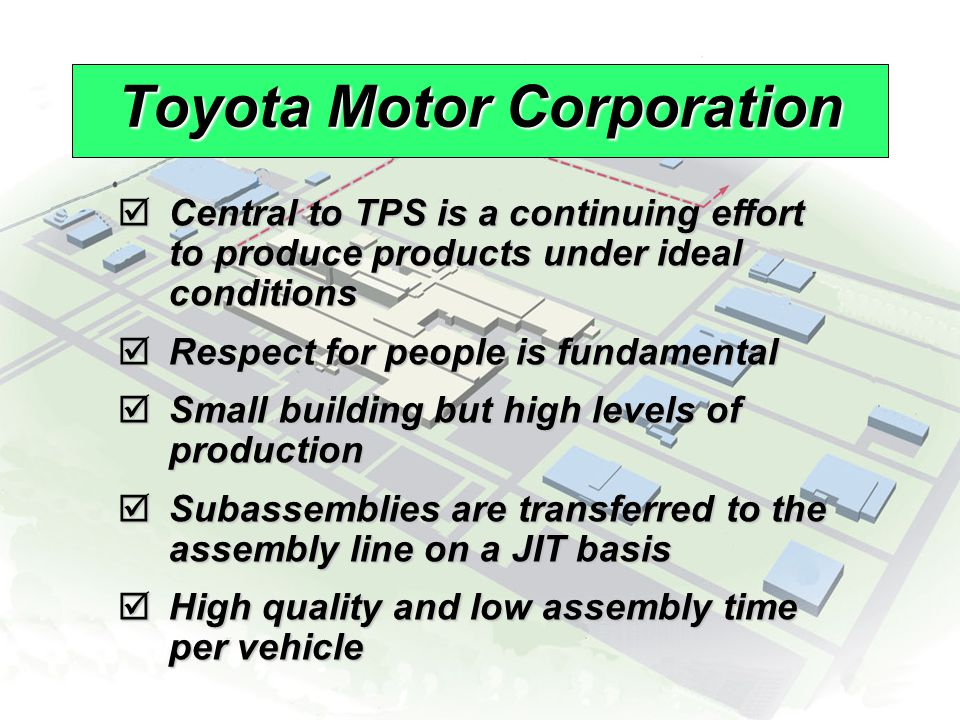 © 2008 Prentice Hall, Inc.16 – 9 Toyota Motor Corporation  Central to TPS is a continuing effort to produce products under ideal conditions  Respect