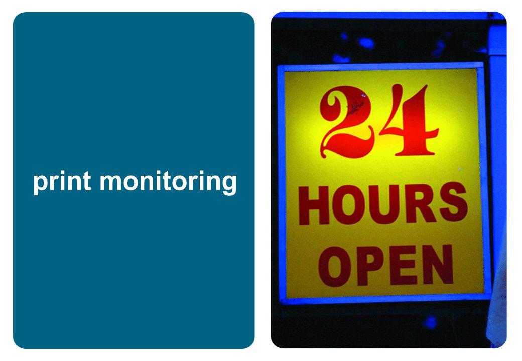print monitoring