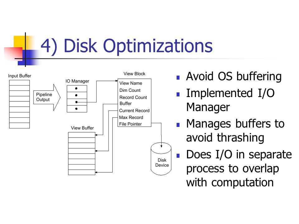 3) Efficient Aggregation Operations One pass for each pipeline Do lazy aggregation ABCD ABC A AB all