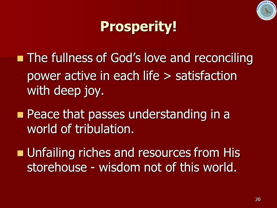 20 Prosperity.