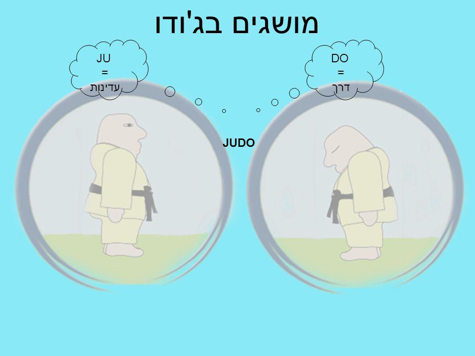 מושגים בג'ודו JUDO JU = עדינות DO = דרך