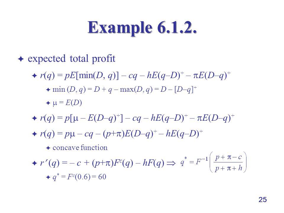 25 Example 6.1.2.
