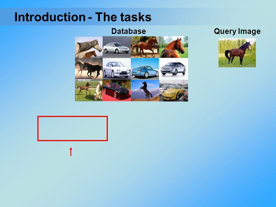- The tasksIntroduction Query ImageDatabase