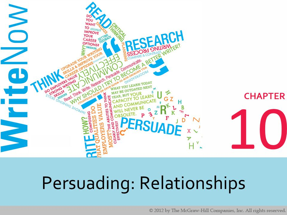 10 Persuading: Relationships