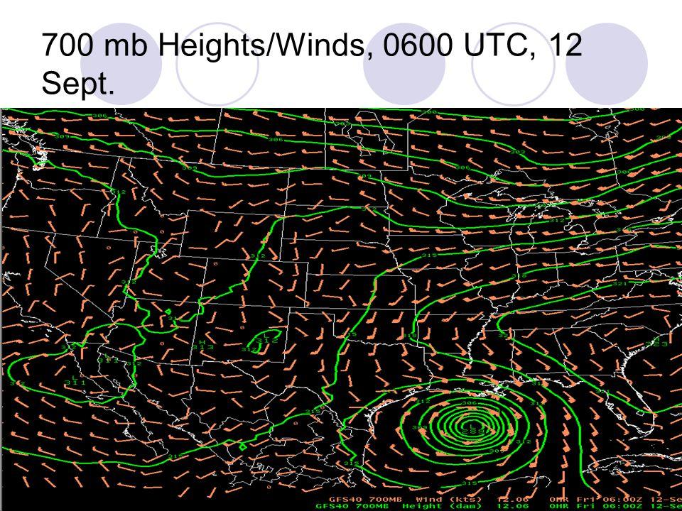700 mb Heights/Winds, 0600 UTC, 12 Sept.