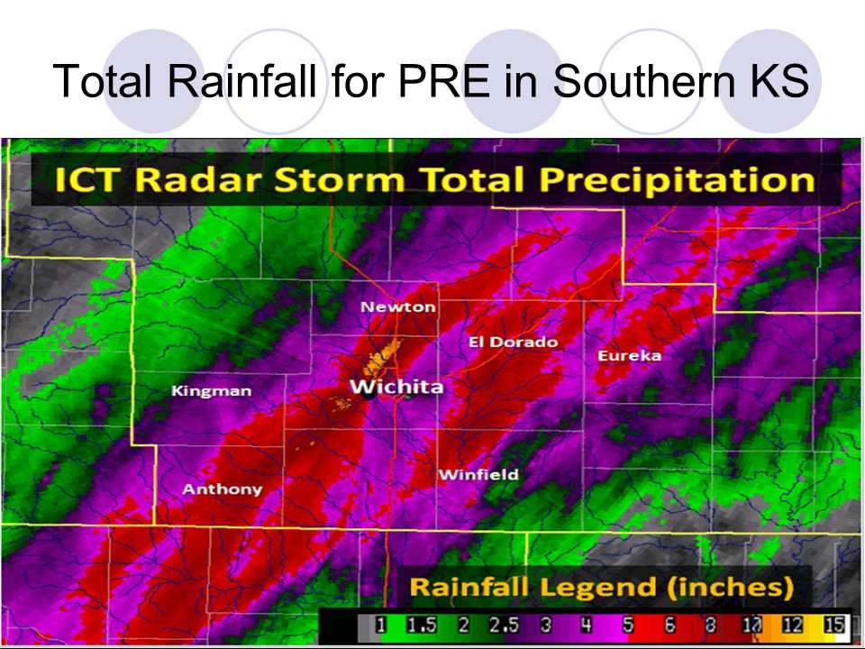 Total Rainfall for PRE in Southern KS