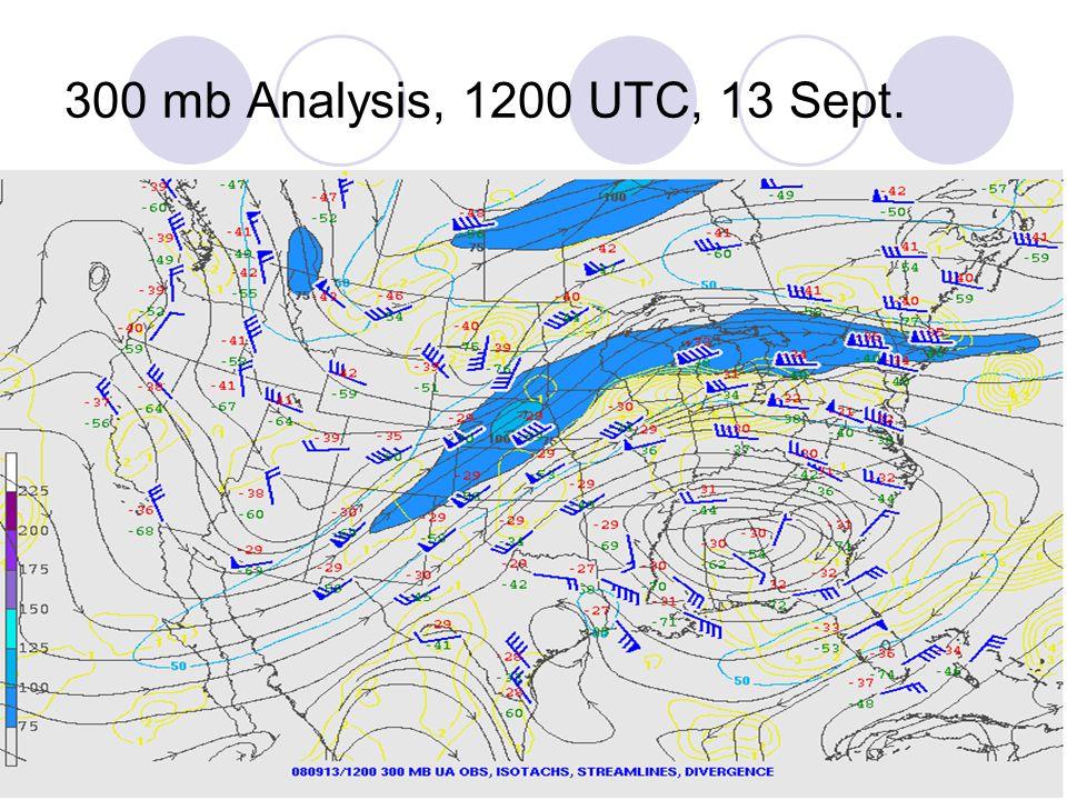 300 mb Analysis, 1200 UTC, 13 Sept.