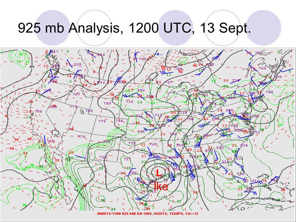 925 mb Analysis, 1200 UTC, 13 Sept. L Ike