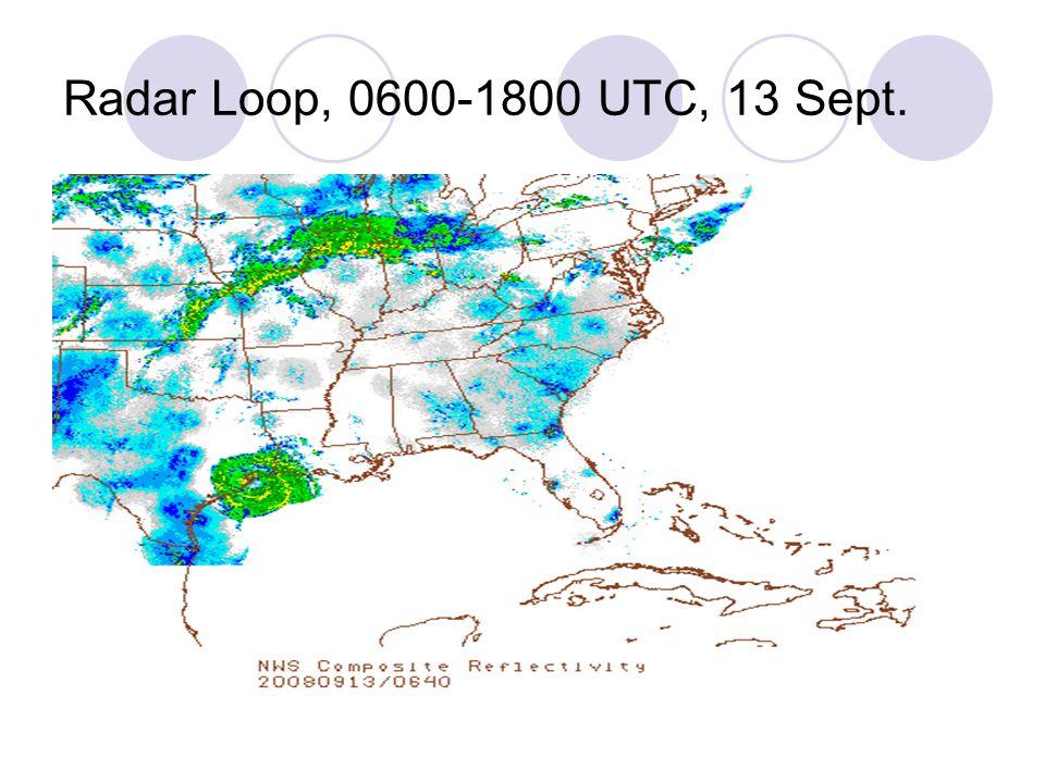 Radar Loop, 0600-1800 UTC, 13 Sept.