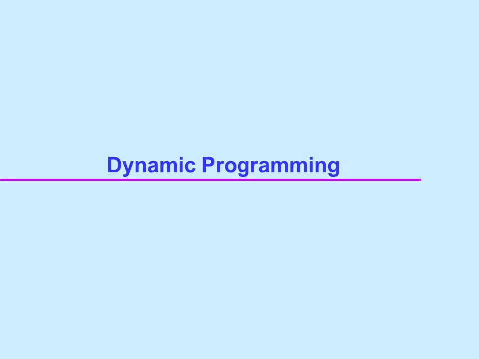 Dijkstra's Algorithm is motivated from a way to implement of this dynamic programming.