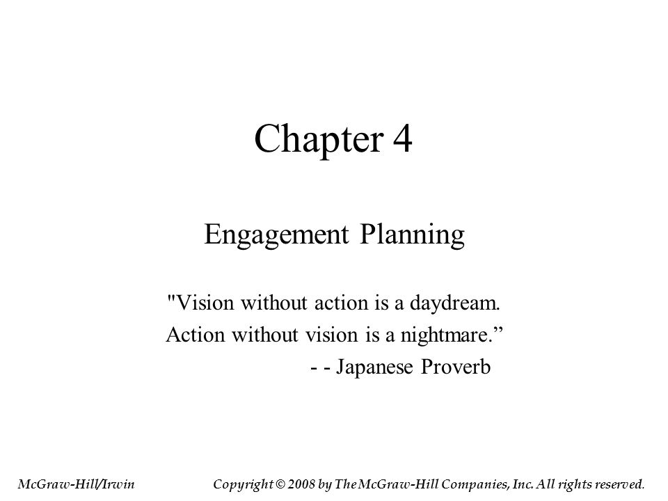 Chapter 4 Engagement Planning