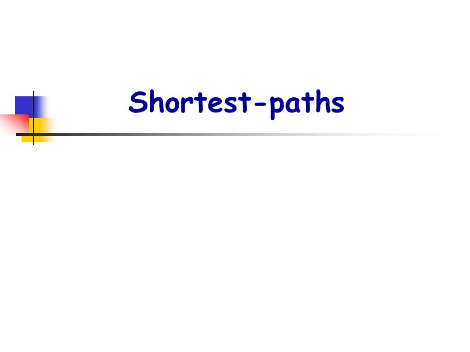 Shortest-paths