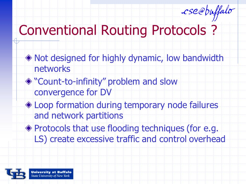 Conventional Routing Protocols .