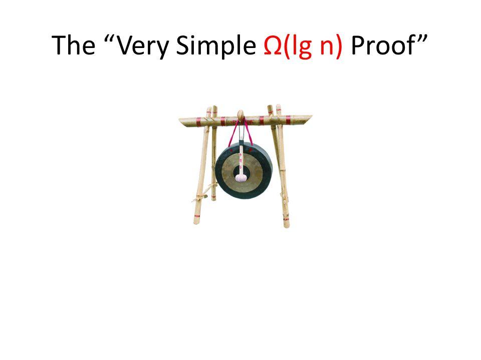 The Very Simple Ω(lg n) Proof