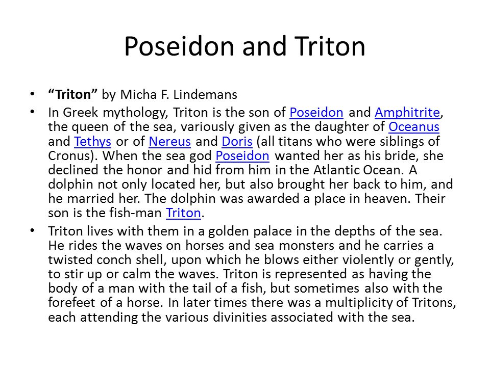 Poseidon and Triton Triton by Micha F.