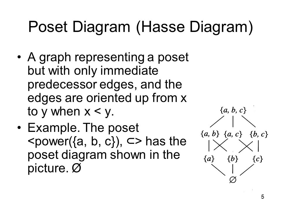 6 Minima, Maxima, and Bounds Let S be a subset of a poset P.