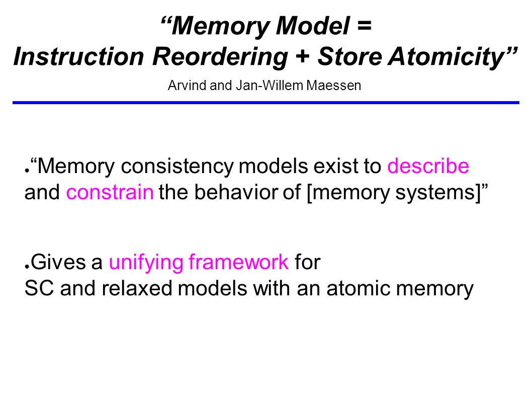Instruction Reordering vs.