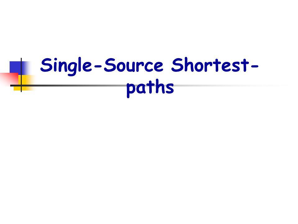 Single-Source Shortest- paths