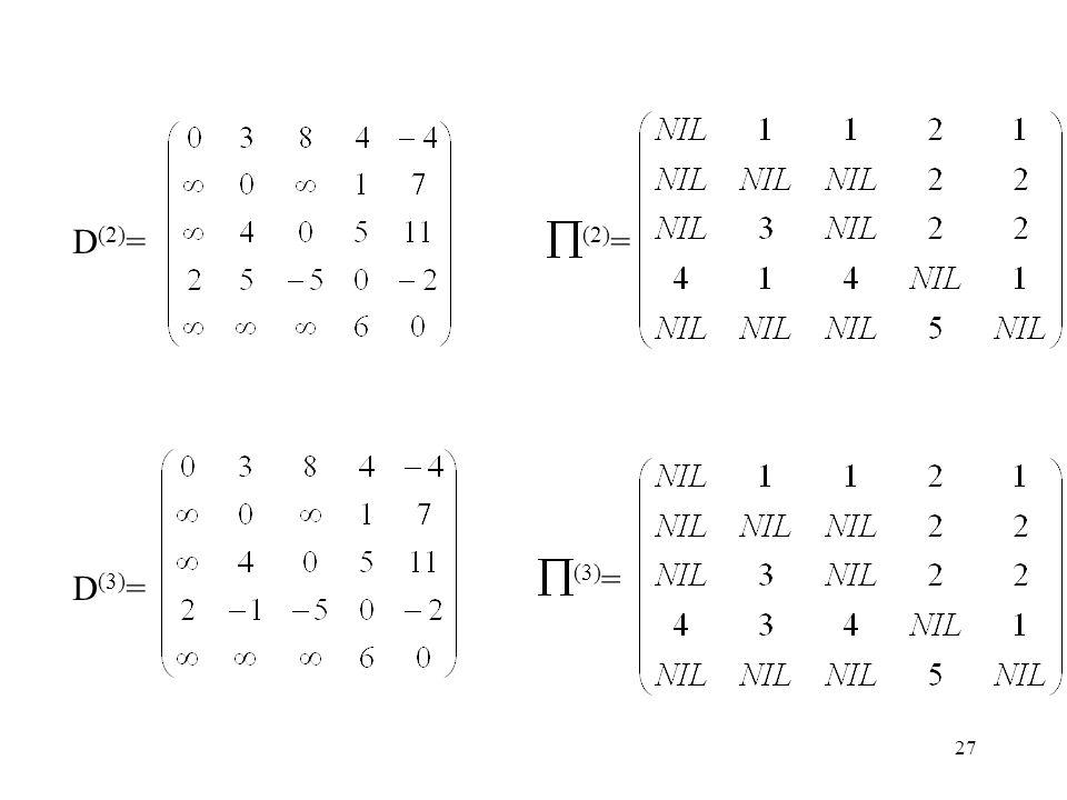 27 D (2) = (2) = D (3) = (3) =