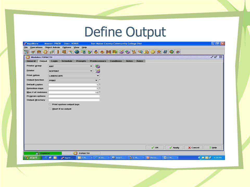 Define Output