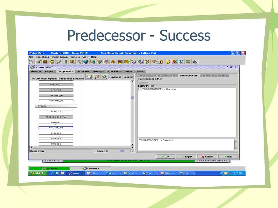 Predecessor - Success