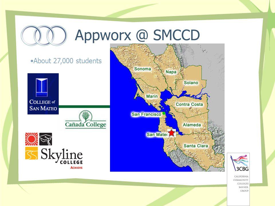 Appworx @ SMCCD About 27,000 students