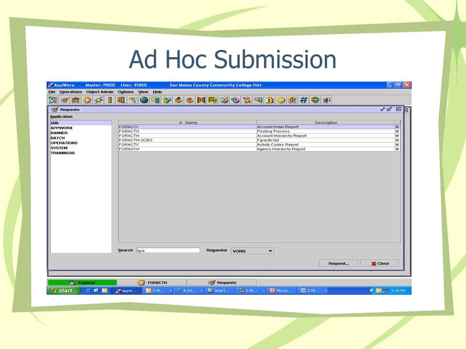Ad Hoc Submission