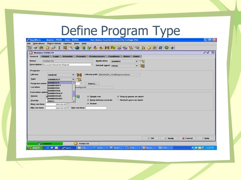 Define Program Type