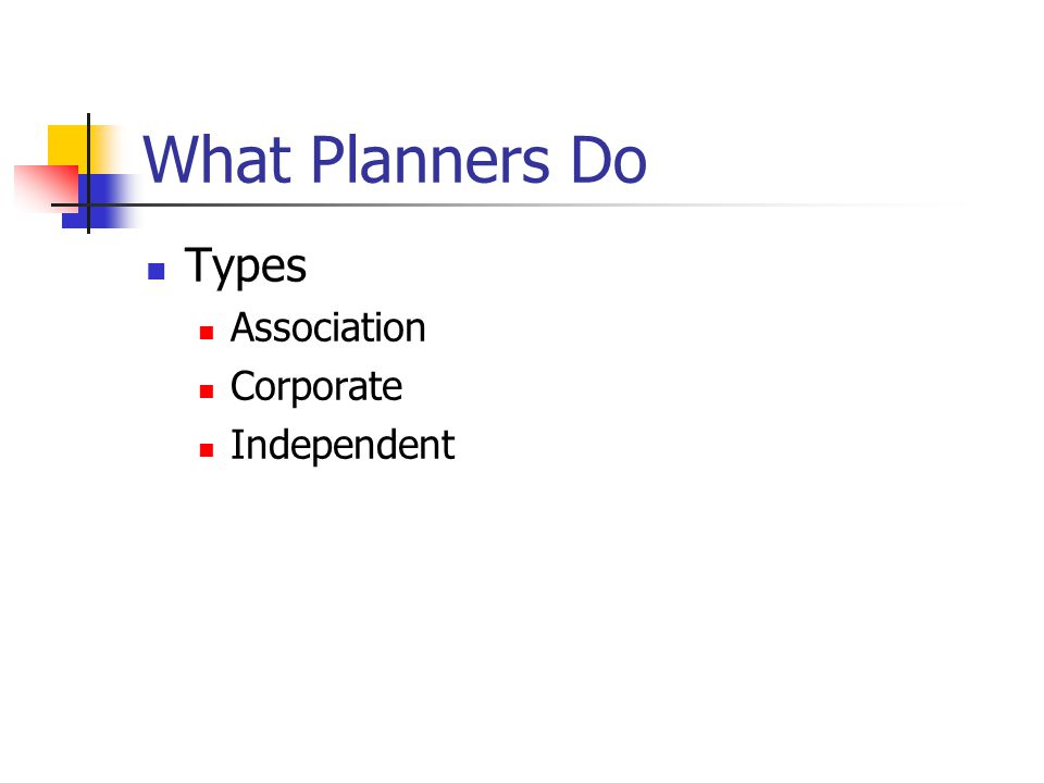 What Planners Do Overview of Site Selection Transportation Arrangements Function Rooms Guest Rooms Exhibits Food & Beverage Negotiating & Legal Considerations Speaker Arrangements Marketing On-Site Management
