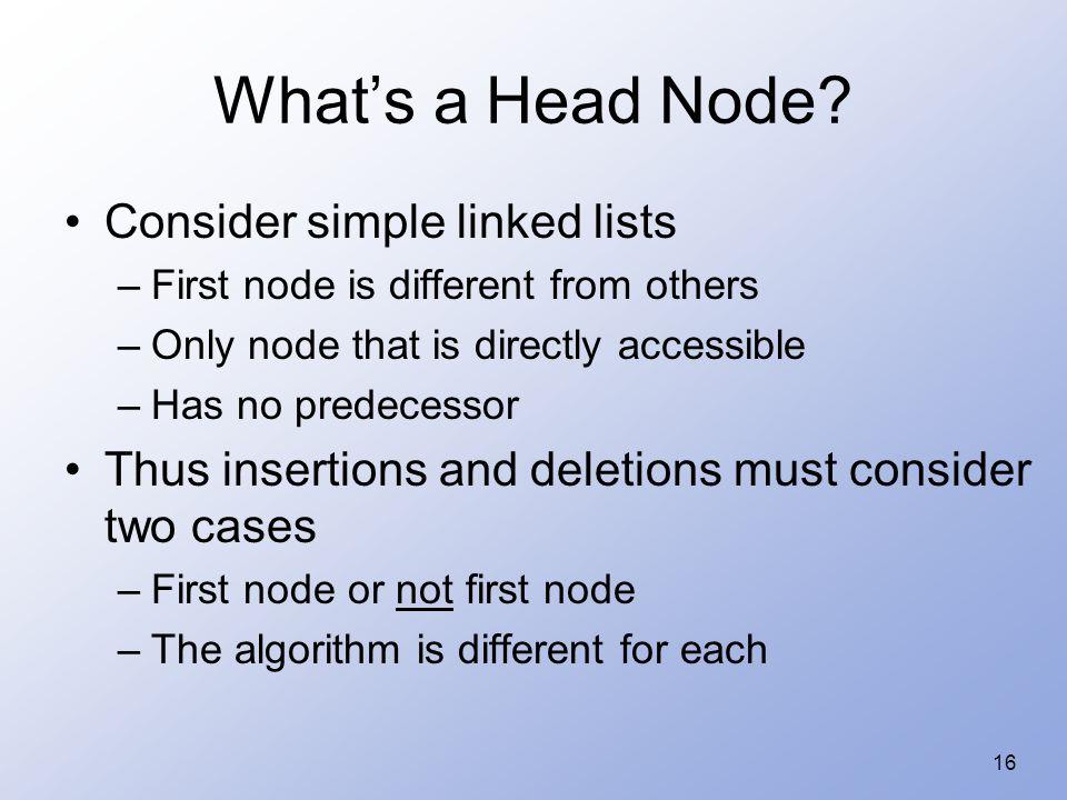 16 What's a Head Node.
