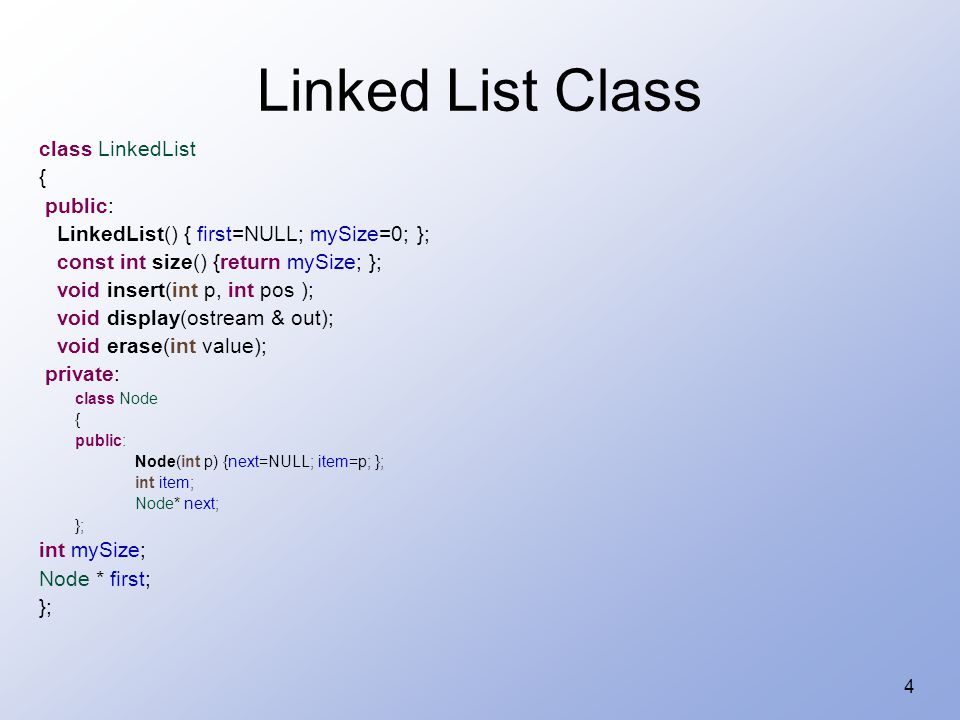 15 Doubly Linked Lists Exceptions: first and last node.